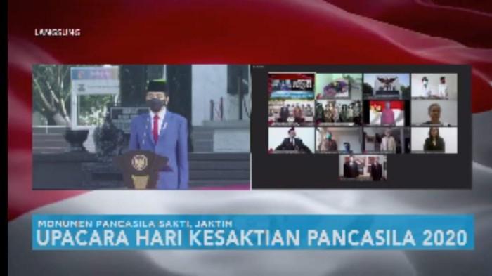 Jokowi pimpin upacara Hari Kesaktian Pancasila (Foto: tangkapan layar YouTube Sekretariat Presiden)