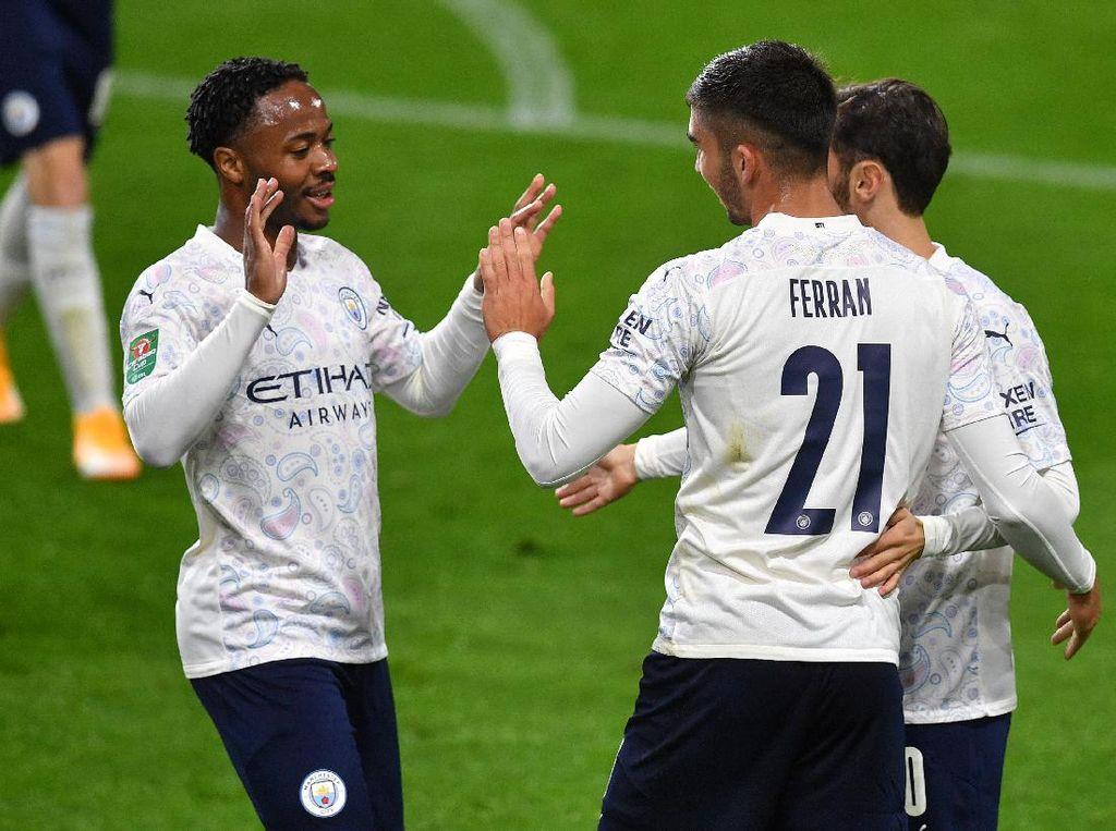 Hasil Piala Liga Inggris: City, MU, Everton Melenggang ke Perempatfinal
