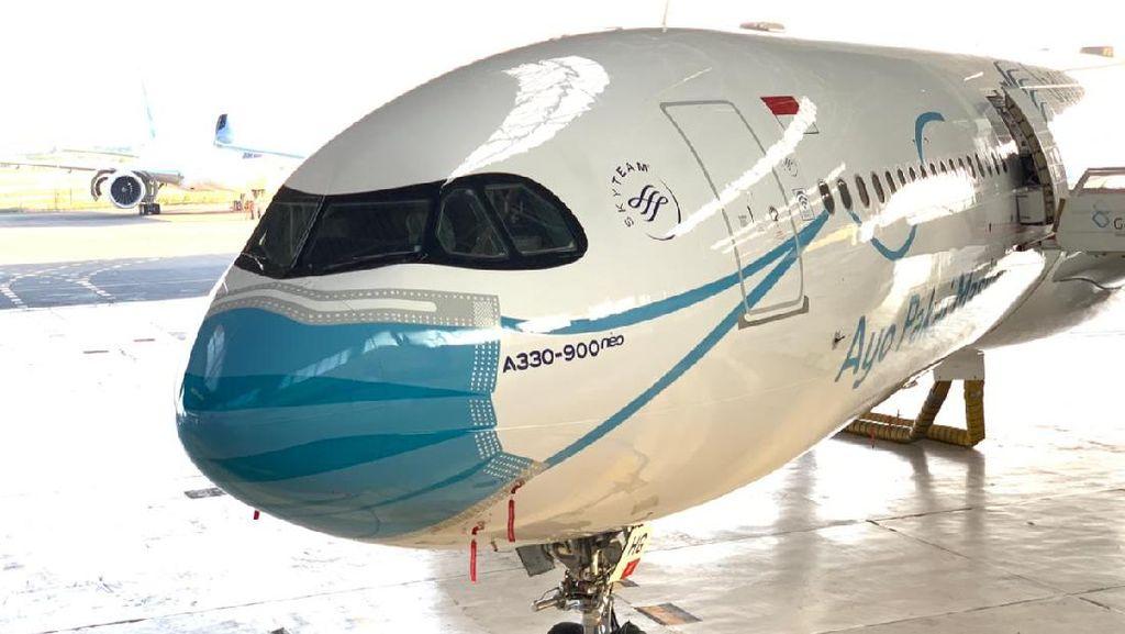 Keren! 5 Pesawat Garuda Indonesia Ini Pakai Masker