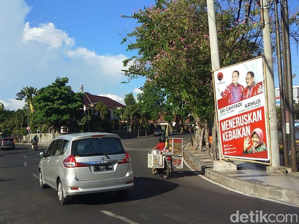 Satpol PP Dikritik Tebang Pilih Tertibkan APK Cawali Surabaya