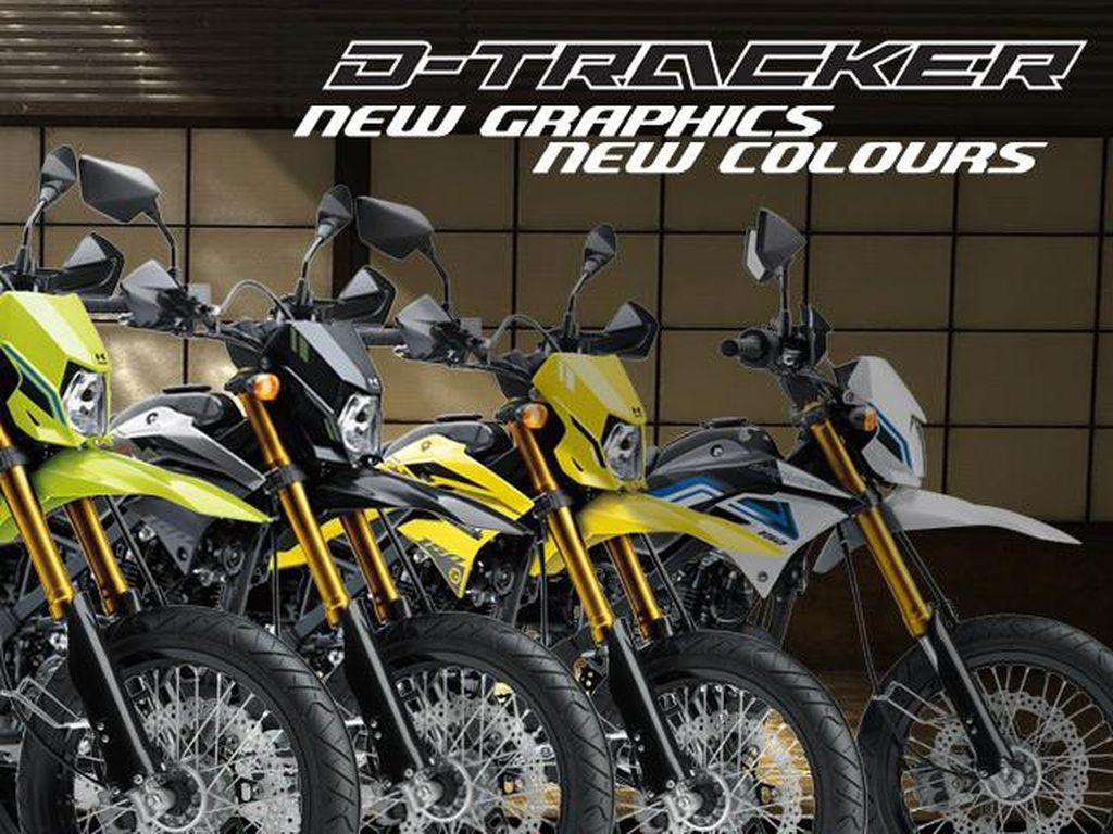 Kawasaki Segarkan Supermoto D-Tracker, Begini Tampilannya Kini