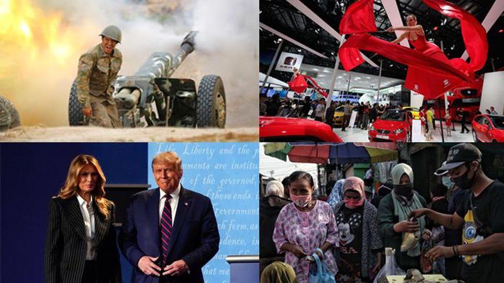 Top 5 Foto Pekan Ini: Perang Armenia vs Azerbaijan-Trump Positif Corona