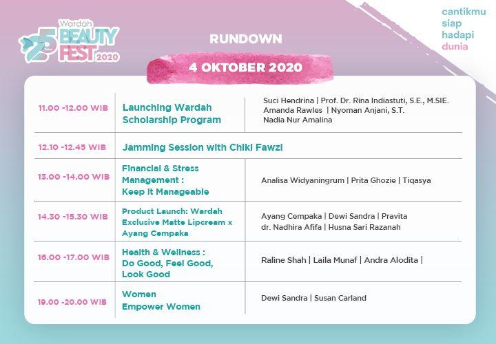 Wardah Beauty Fest 3-4 October 2020