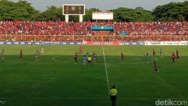 Persijap Jepara saat bermain laga pertama liga 2 di Stadion Gelora Bumi Kartini Jepara.