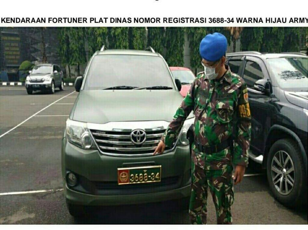 Penyelidikan Puspomad Berujung Terungkapnya Sosok Ahon Pakai Mobil Dinas TNI