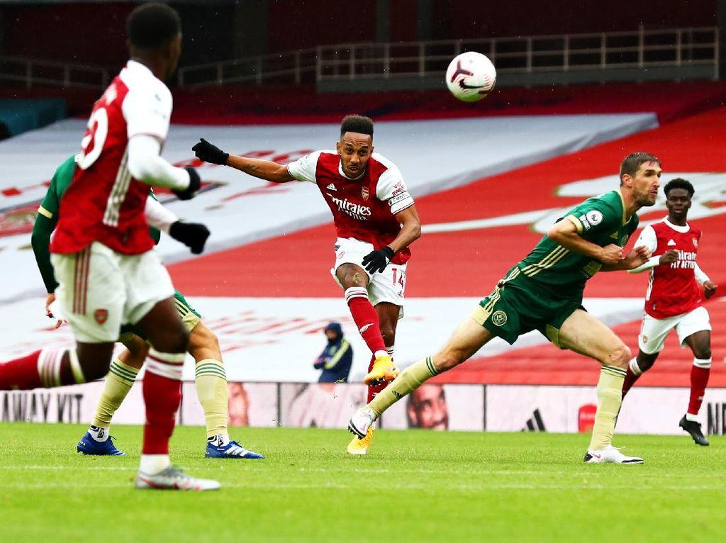 Arsenal Vs Sheffield Imbang di Babak Pertama