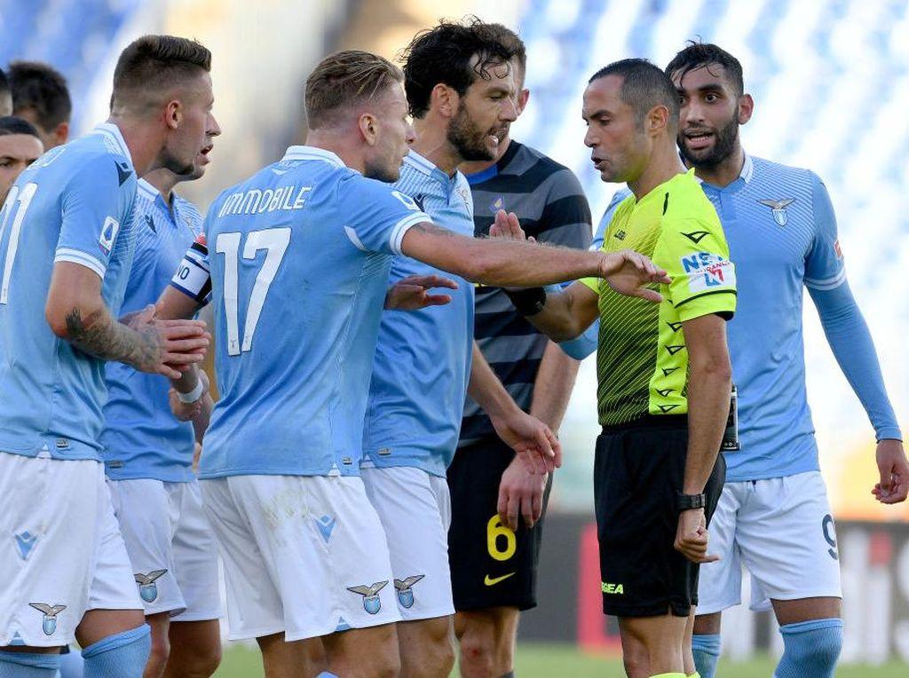 Lazio Vs Inter Milan: Diwarnai Dua Kartu Merah, Laga Berakhir Imbang 1-1