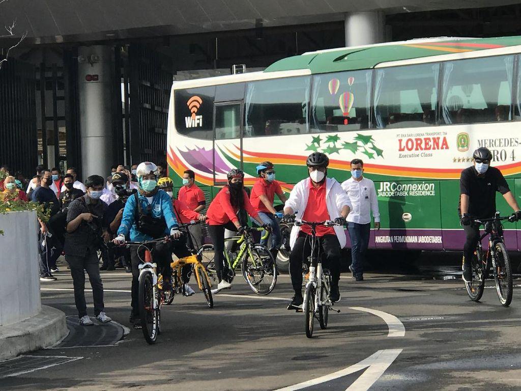 Menhub Olahraga Minggu Pagi di BSD City: Sepeda Melengkapi Antarmoda