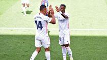 Vinicius-Benzema Sukses Bikin Madrid Permalukan Levante