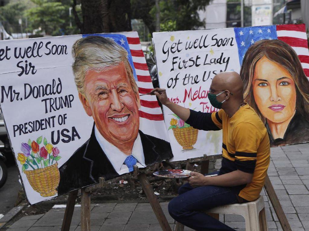 Doa-Dukungan Warga Dunia untuk Donald Trump yang Positif Corona