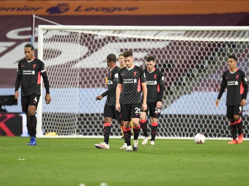Dihajar Aston Villa, Liverpool Tampil Seburuk-buruknya