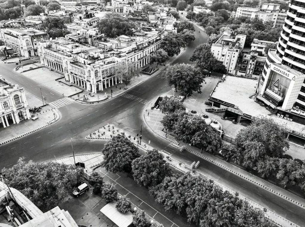 Ketika New Delhi yang Padat Jadi Kota Hantu