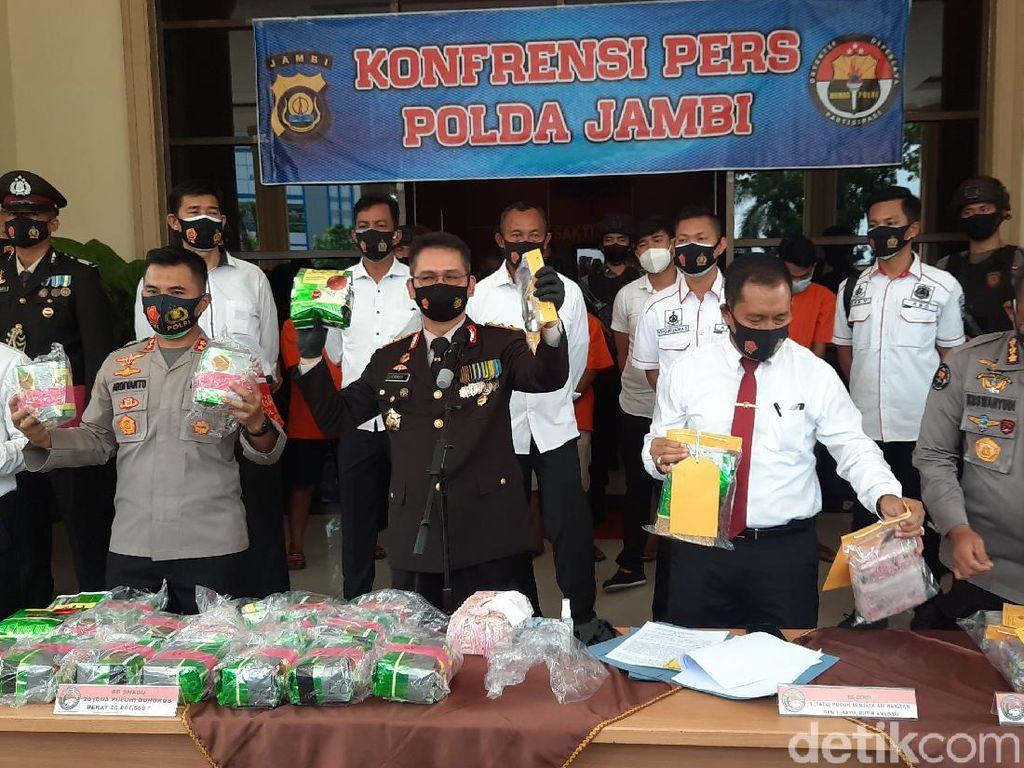 Polda Jambi Gagalkan Peredaran 41 Kg Sabu, 6 Orang Diamankan