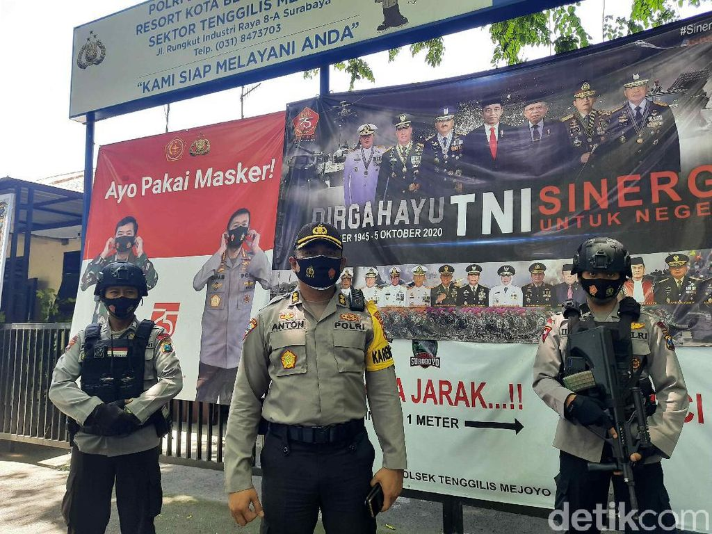 Demo Tolak Omnibus Law di Surabaya Hari Ini Dikawal 2 Ribu Personel