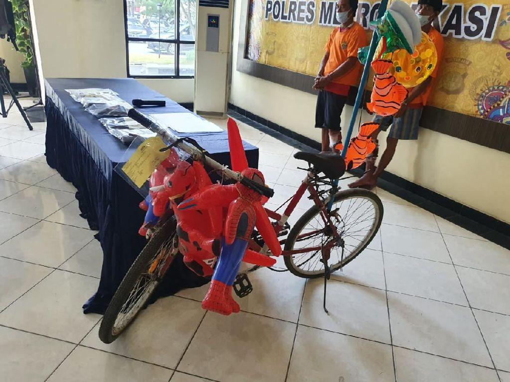Ini Sepeda Tukang Balon, Saksi Bisu Aksi Sadis Pemulung di Bekasi