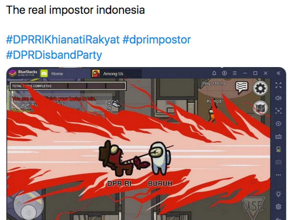Protes Omnibus Law Pakai Meme Game Among Us