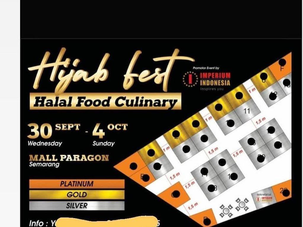 Stand Makanan Daging Babi Hadir di Hijab Fest, Netizen Geram