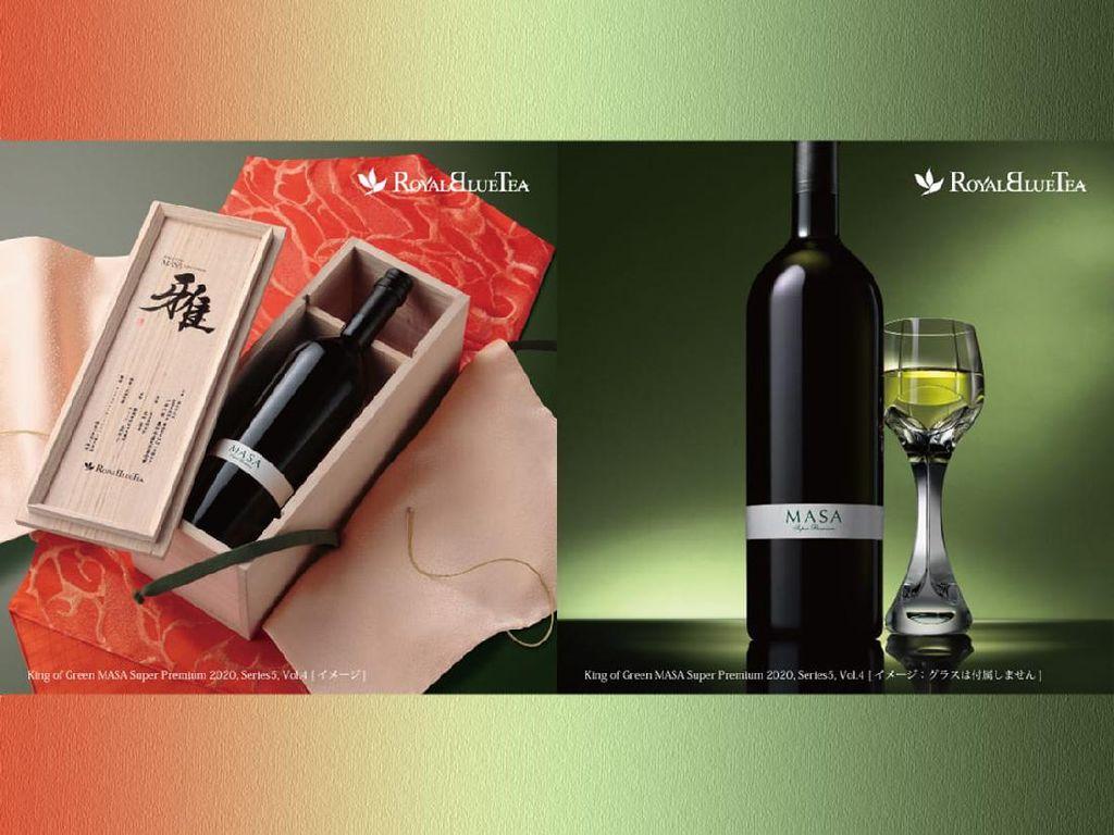 Super Mewah! Teh Hijau dalam Botol Wine Ini Dijual Rp 45 Juta