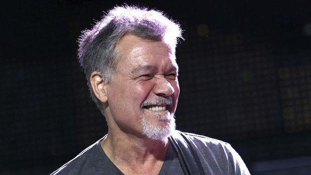 FILE - Eddie Van Halen of Van Halen performs on Aug. 13, 2015, in Wantagh, N.Y. Van Halen, who had battled cancer, died Tuesday, Oct. 6, 2020. He was 65. (Photo by Greg Allen/Invision/AP, File)