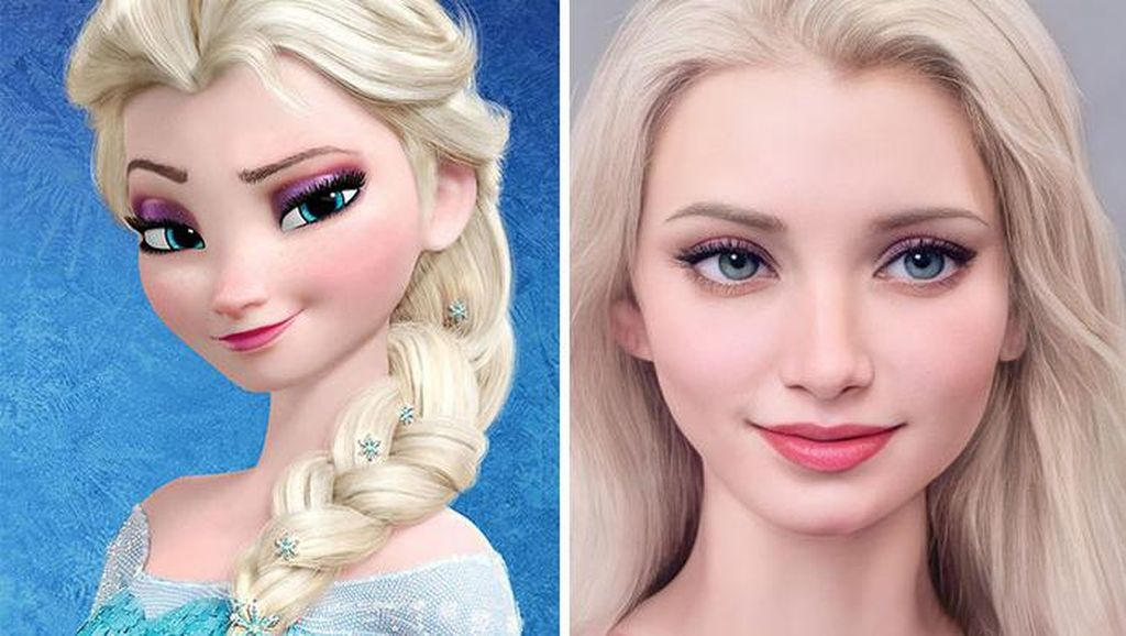 Mencengangkan! Ini Foto Karakter Disney Hasil Editan AI
