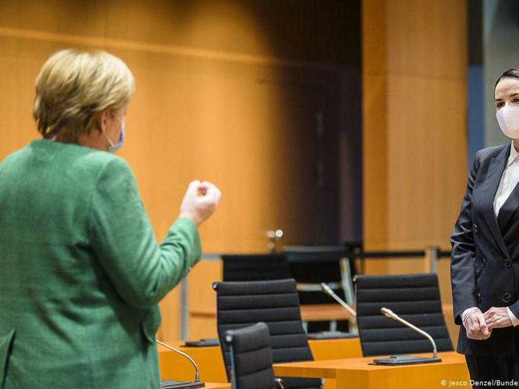 Pemimpin Oposisi Belarus Temui Angela Merkel dan Minta Dukungan Internasional