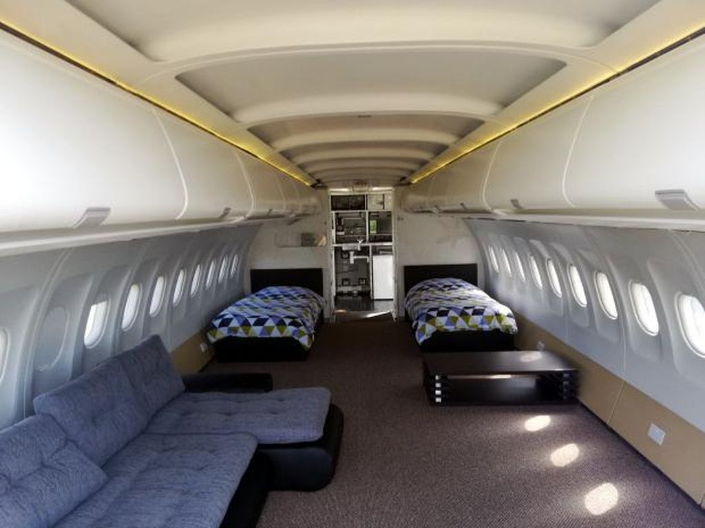 Foto: Begini Jadinya Kalau Pesawat Airbus Jadi Penginapan
