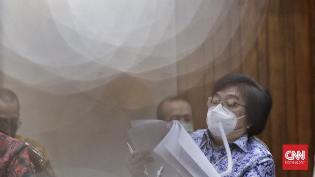 Menteri LHK Siti Nurbaya Jakarta, Rabu, 7 Oktober 2020. CNN Indonesia/ Adhi Wicaksono