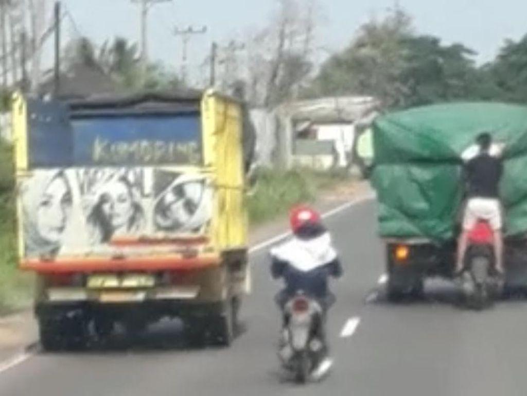 Marak Aksi Bajing Loncat di Lintas Timur Sumsel, Polisi Turun Tangan