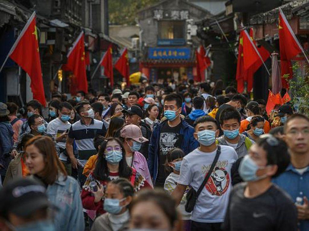 Jutaan Warga China Menyerbu Tempat Wisata saat Golden Week
