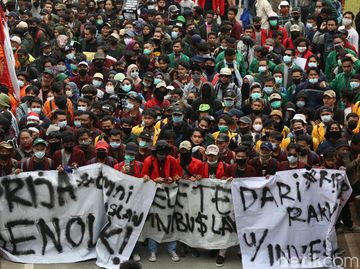 Nah Loh! 10 Pendemo 8 Oktober di Jakarta Positif Corona