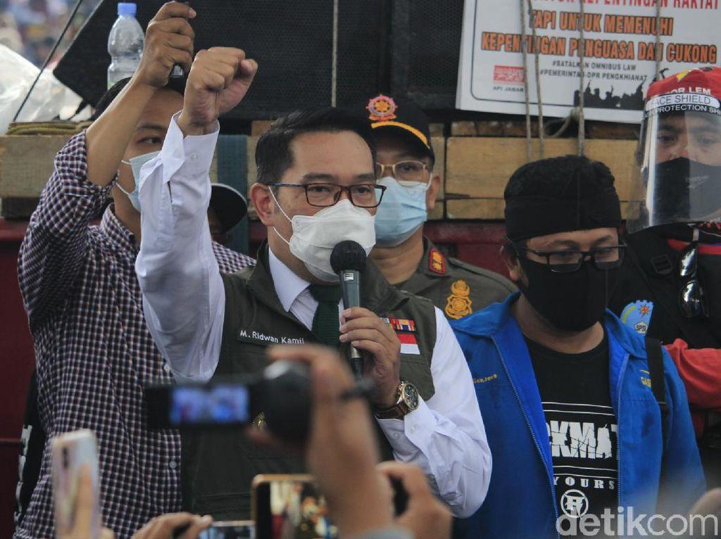 Perusuh Demo di Bandung, Ridwan Kamil: 100 Persen Bukan Buruh