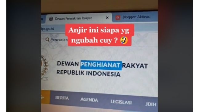Situs DPR dihack