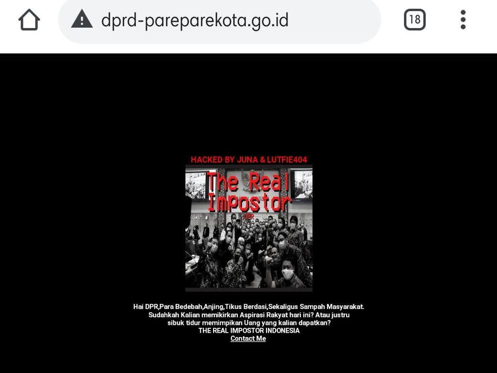 Situs DPRD Kota Parepare Diretas, Ada Narasi Impostor DPR