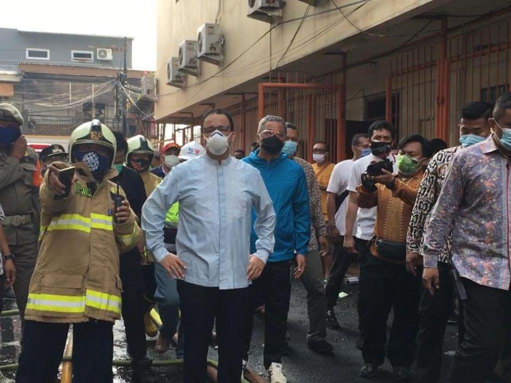 Anies Cek Grand Theater Senen yang Dibakar Massa Demo