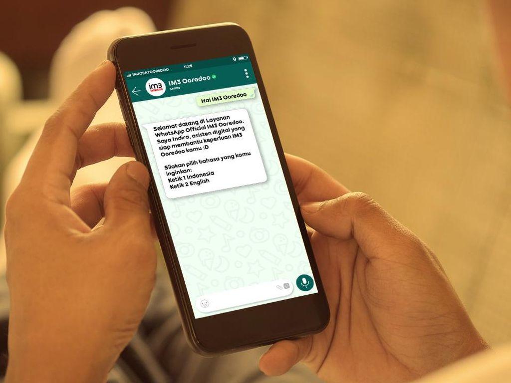 Selama Natal dan Tahun Baru, Pelanggan Indosat Banyak Akses WhatsApp Cs