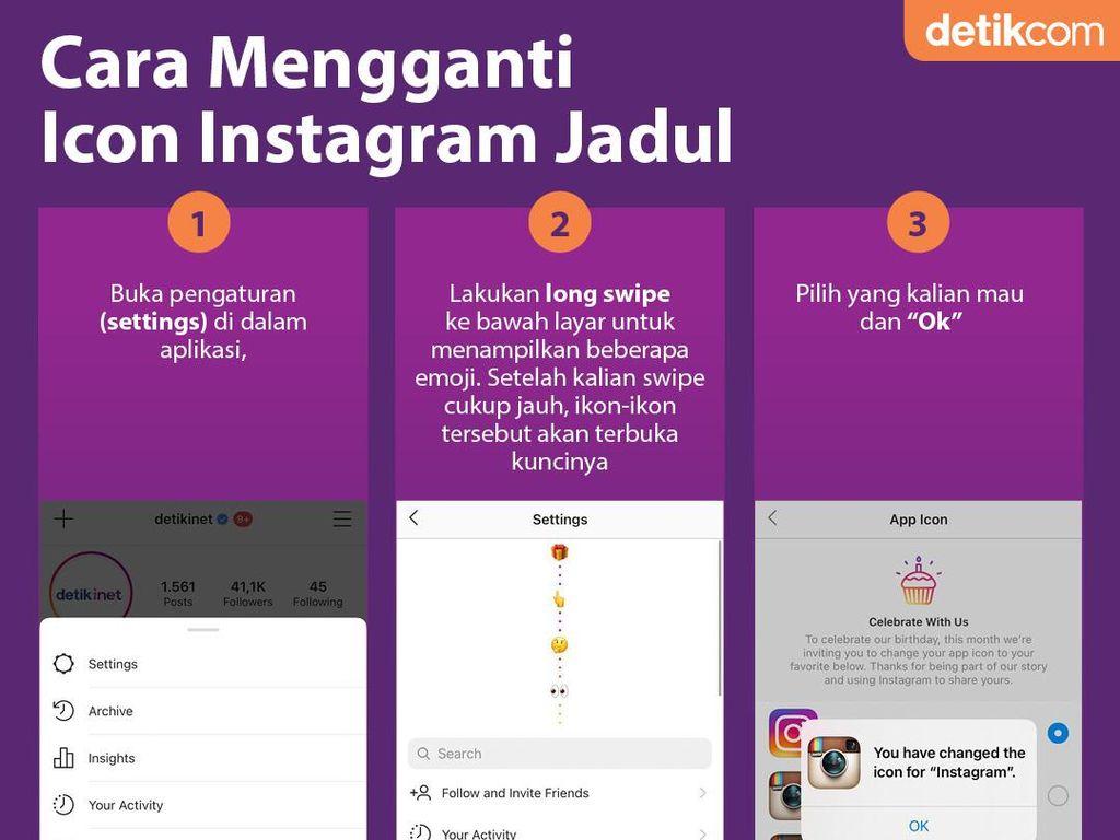 Cara Ganti Ikon Instagram Jadul