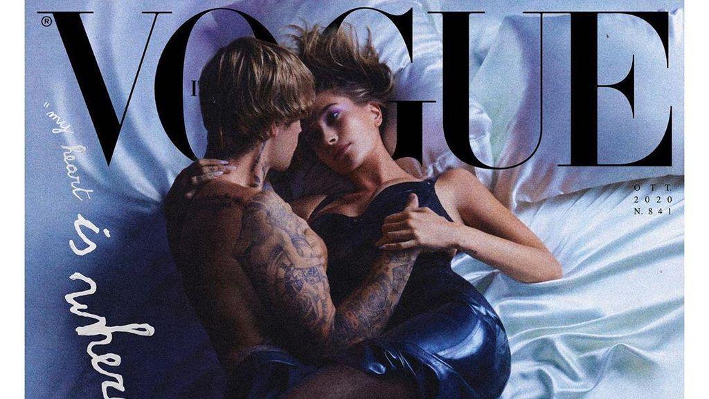 Foto: Pose Seksi Justin Bieber dan Hailey Baldwin di Ranjang