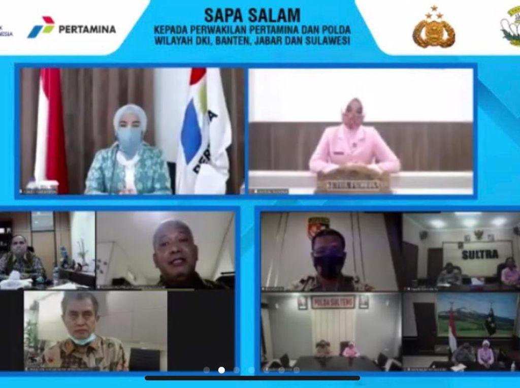 Bantu Pendidikan Anak Saat Pandemi, Pertamina-Polri Bagikan 542 Laptop