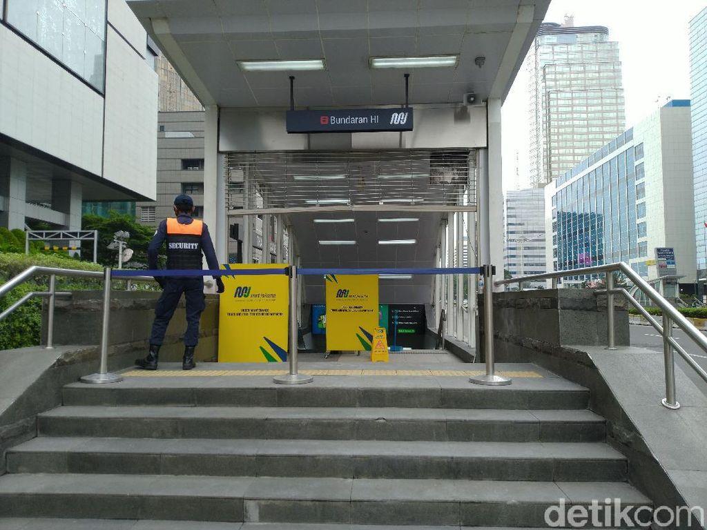 Stasiun MRT Bundaran HI Tetap Operasi Meski Dirusak, Begini Kondisinya