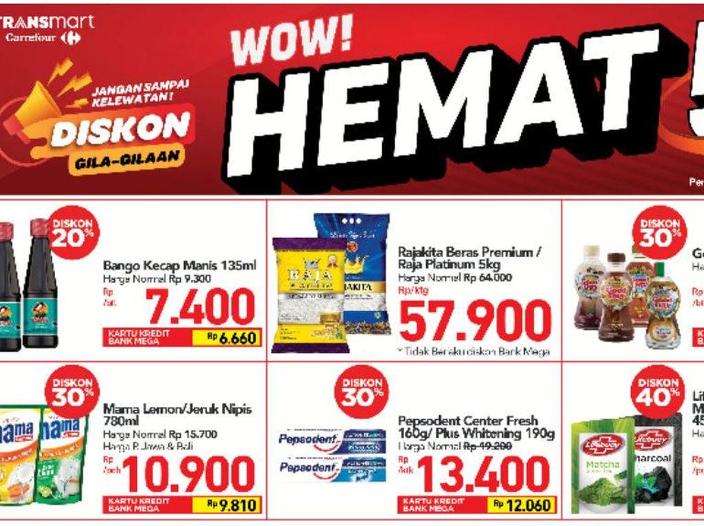 Cuma di Transmart Carrefour, Belanja Hemat Pakai Diskon Heboh
