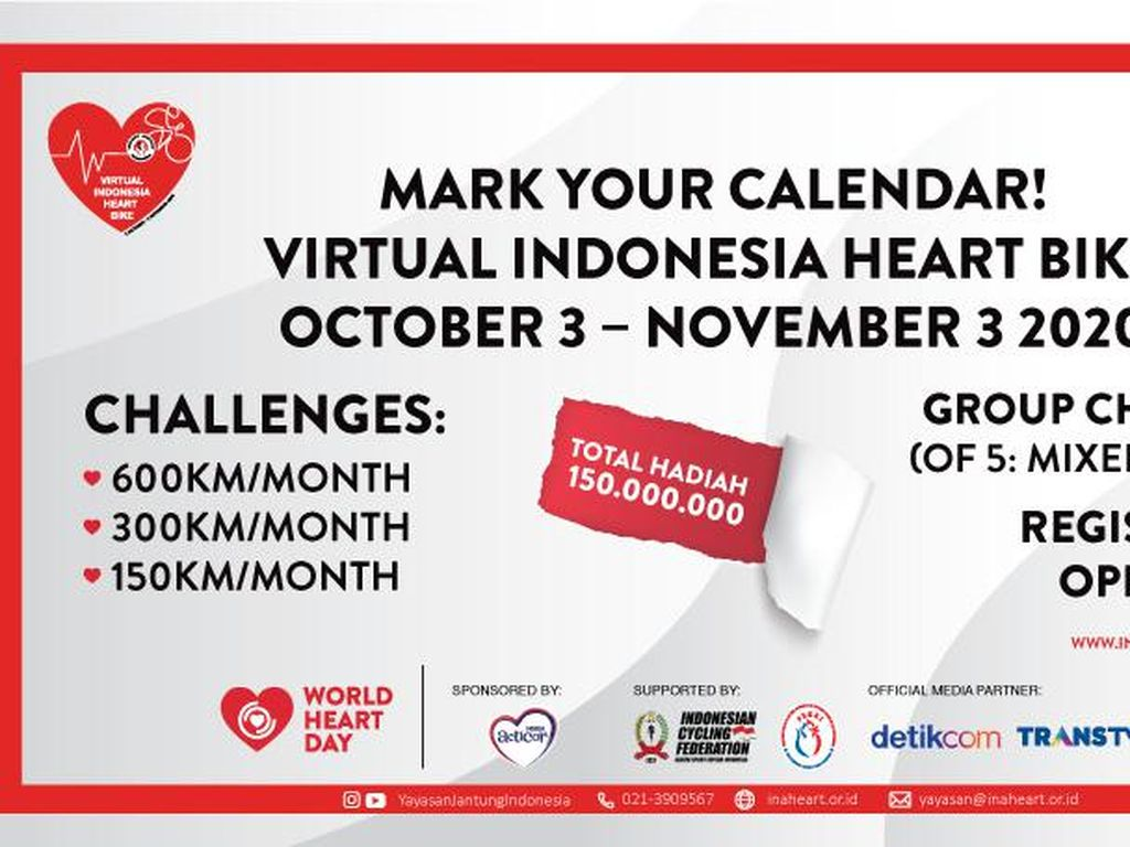 Goweser, Yuk Ikut Virtual Indonesia Heart Bike Bareng Nestlé ACTICOR!