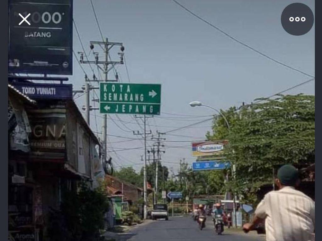 Viral Plang Petunjuk Arah ke Jepang dan Semarang, Ternyata Ini Faktanya
