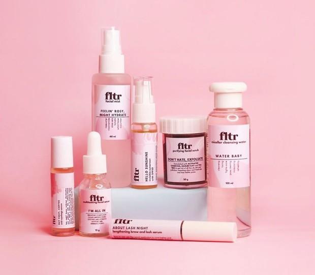 Memiliki nama Fltr Beauty, brand ini akan menawarkan produk untuk membuat filter kecantikan alami, yaitu wajah kilau alami.
