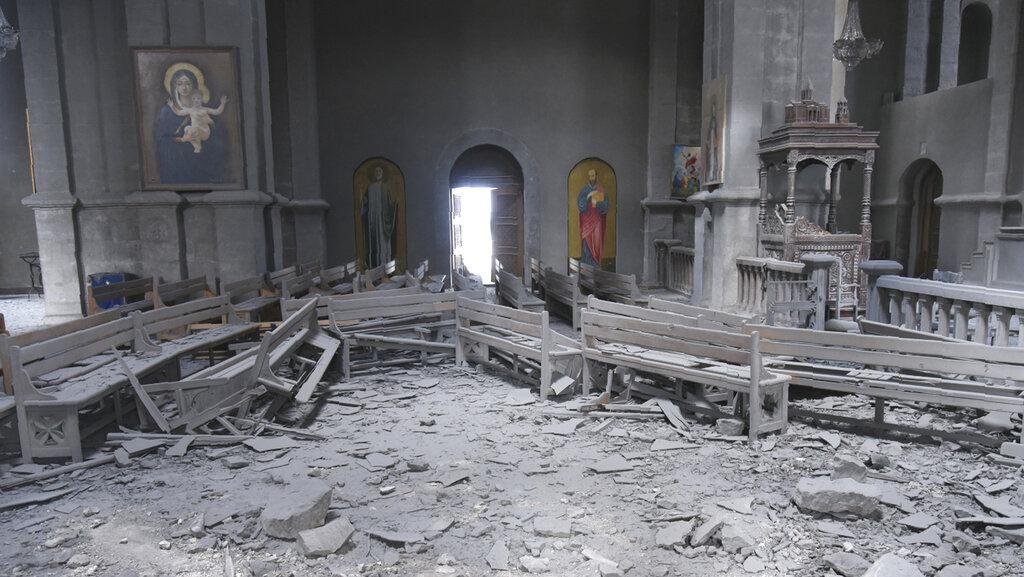 Gereja Bersejarah Jadi Korban Perang Armenia-Azerbaijan
