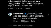 Canda Ridwan Kamil ke Peramal Akurat yang Ajak Bertemu Presiden RI 2098