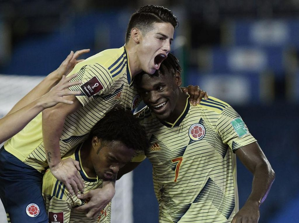 Kolombia Vs Venezuela: James Rodriguez dkk Menang Telak 3-0