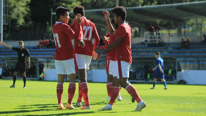 Timnas U-19, Timnas Indonesia U-19, dalam laga uji coba di Kroasia.