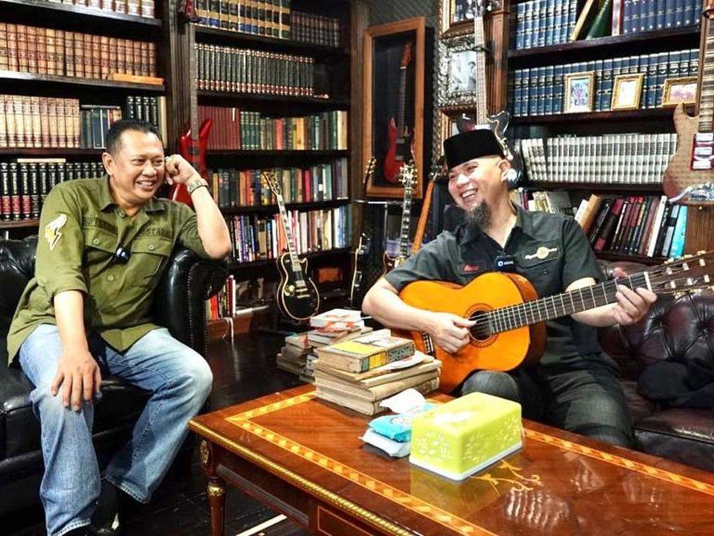 Ketua MPR Temui Ahmad Dhani Bicara Barang Antik hingga UU Cipta Kerja