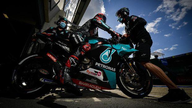 Fabio Quartararo di kualifikasi MotoGP Prancis 2020.