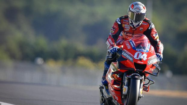 Andrea Dovizioso di kualifikasi MotoGP Prancis 2020.
